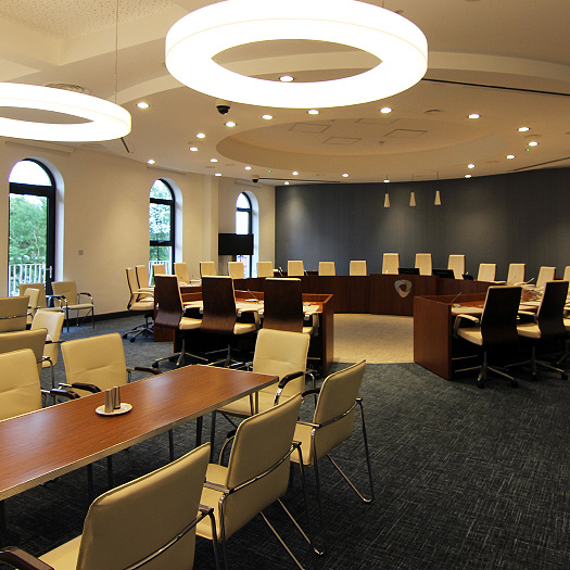 Executive furniture supplied and fitted at Banbridge Civic Centre, NI.